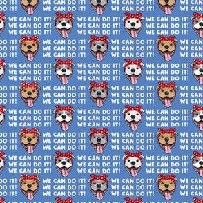 "(3/4"" scale) We can do it! - Rosie Pit bulls dogs - LAD19BS"
