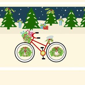 christmas bike ride stripes - XL 167