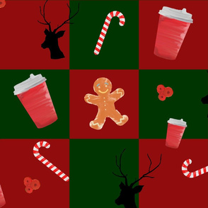 new year cup and  gingerbread