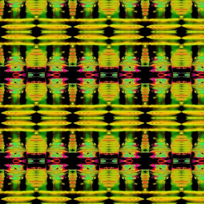 Tribal Bamboo Pattern in Green