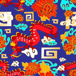 dragon dancers blue