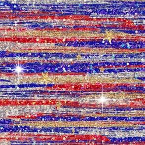 Glitter Strokes Navy Red stars