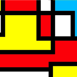 Abstract Geometric Primary Colors Design