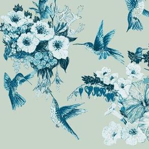 Teal & Sage Humming Bird