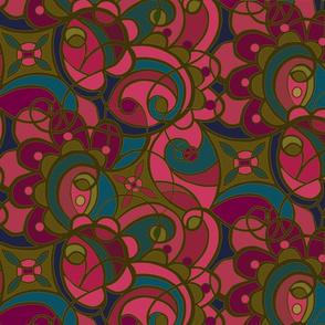 Jeweled spirals