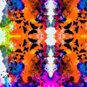 Butterfly Watercolor Orange
