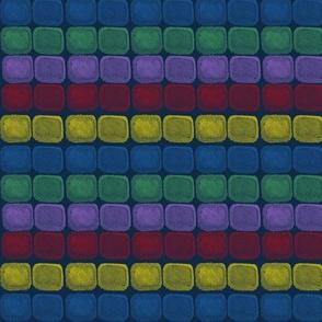 Jewel Colorblocks on Blue by Kimberhew