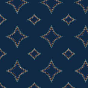 Jewel Stars on Blue by Kimberhew
