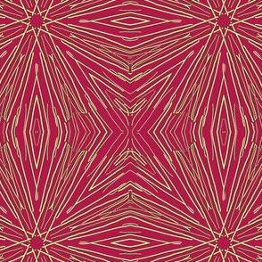 Star Sparklers on Ripe Cherry Crimson