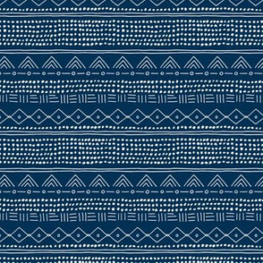 Minimal mudcloth bohemian mayan abstract indian summer love aztec design navy blue winter SMALL