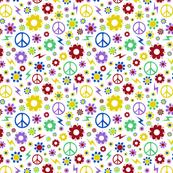 Retro flower pattern