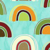 Rainbow in the sky aquamarine small