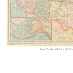 1895 United States Map