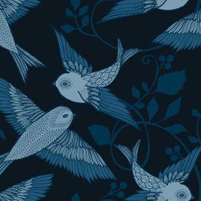Blue Birds - medium scale
