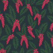 glorious palm leaf midnight flowers