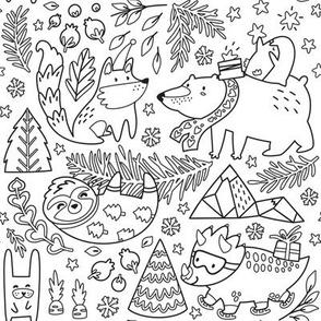 Christmas mood for coloring