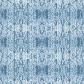 Slate Blue Feather Damask
