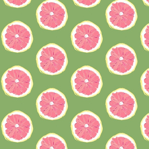 Hand-drawn Pop Art - Pink Grapefruit