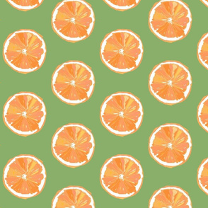 Hand-drawn Pop Art Oranges