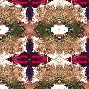 peacock feather beige powder ellipse kaleidoscope large
