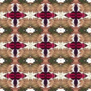 peacock feather beige powder ellipse kaleidoscope medium