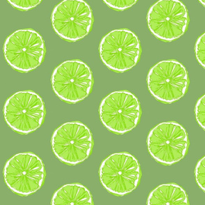 Pop Art Citrus - Limes