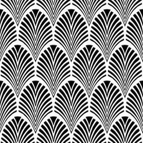 Art Deco Fans black on white