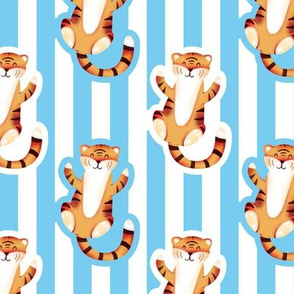 Cute Tiger with Stripes (Small Size Print)