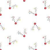 Christmas Reindeer - Watercolor Small