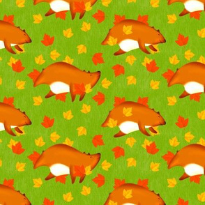 Bears Playing in Leaves (Small Size Version)