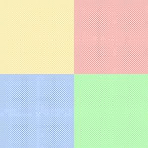 Pastel Color Blocks Crosshatched (Large Size)