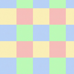 Pastel Color Blocks Crosshatched (Medium Size)