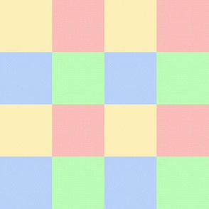 Pastel Color Blocks Crosshatched (Small Size)