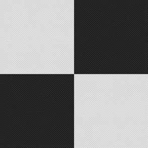 Checkered Black & White Squares Crosshatched (Large Size)