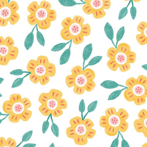 LARGE Sweet Yellow Floral