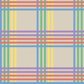 Rainbow Fences Plaid