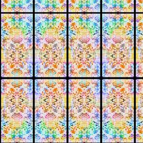 Rainbow tie-dye panel