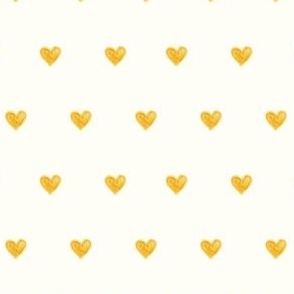 marker hearts - gold on cream - LAD19