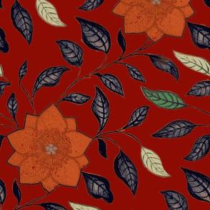 Asian Flower Red