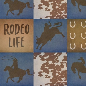 Rodeo Life Patchwork 7 Inch