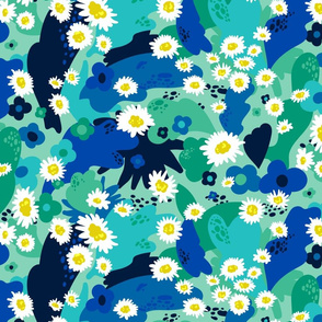 Jewel-Tone '70s Floral Large