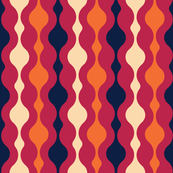 Normal scale // Meowsome 70s columns (coordenate) // navy blue pink and orange