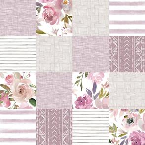 Mauve floral Patchwork