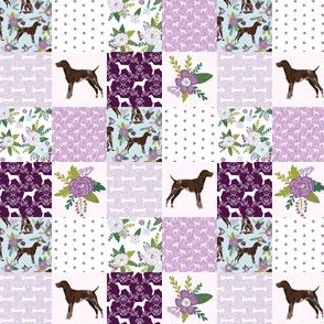 TINY - german shorthair pointer pet quilt  c cheater wholecloth
