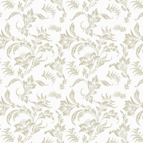 Floral Scroll- Neutral