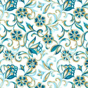 Mila Floral- Teal
