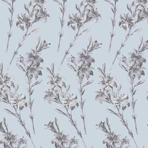 Lillies- Silver Blue