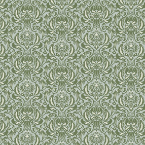 Decorative Damask- Fern Green