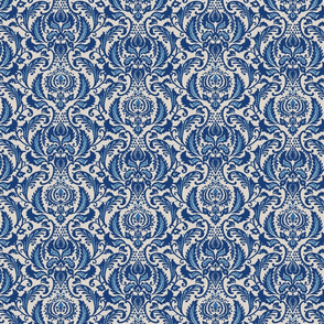 Decorative Damask- Navy