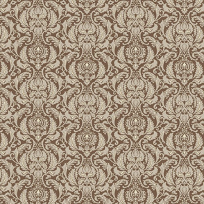 Decorative Damask- Brown